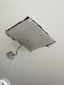 patching up the existing ceiling